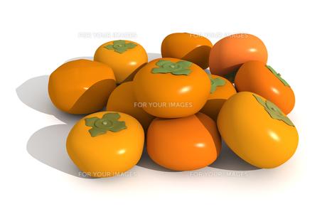たくさんの柿の素材 [FYI00383384]