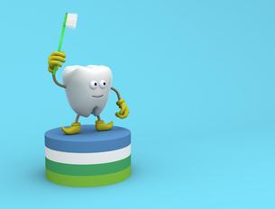 歯のキャラクターの写真素材 [FYI00383393]