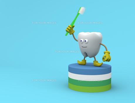 歯のキャラクターの写真素材 [FYI00383395]
