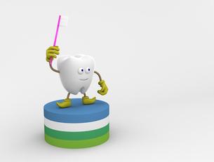 歯のキャラクターの写真素材 [FYI00383399]