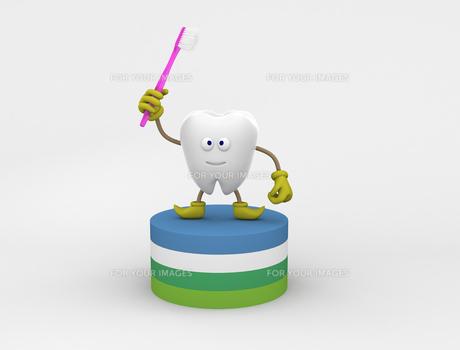 歯のキャラクターの写真素材 [FYI00383401]