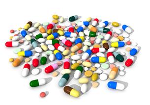 たくさんの薬の写真素材 [FYI00383403]