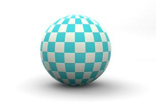 チェック柄の球体の写真素材 [FYI00383408]