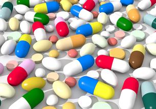 たくさんの薬の写真素材 [FYI00383409]