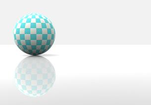 チェック柄の球体の写真素材 [FYI00383410]