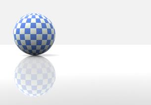 チェック柄の球体の写真素材 [FYI00383412]