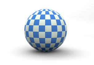 チェック柄の球体の写真素材 [FYI00383415]