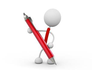ペンを持つの写真素材 [FYI00383471]