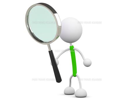 虫眼鏡の写真素材 [FYI00383472]