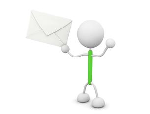 手紙を持つの写真素材 [FYI00383484]