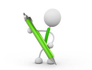 ペンを持つの写真素材 [FYI00383493]