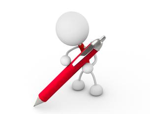 ペンを持つの写真素材 [FYI00383501]
