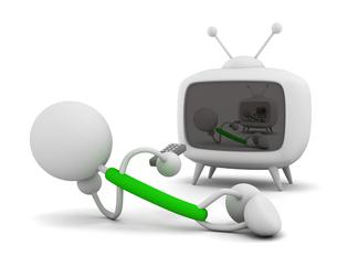 テレビを見るの写真素材 [FYI00383511]