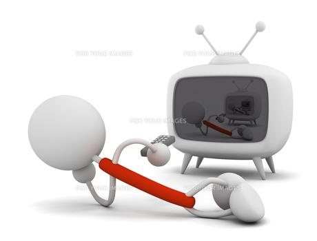 テレビを見るの写真素材 [FYI00383516]