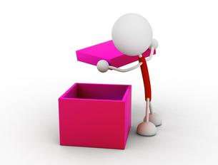 箱を開けるの写真素材 [FYI00383517]