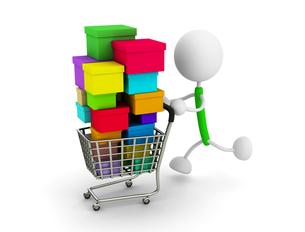 ショッピングカートの写真素材 [FYI00383598]