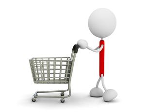 ショッピングカートの写真素材 [FYI00383604]