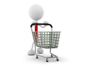 ショッピングカートの写真素材 [FYI00383606]