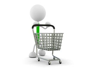 ショッピングカートの写真素材 [FYI00383607]