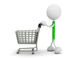 ショッピングカートの写真素材 [FYI00383613]