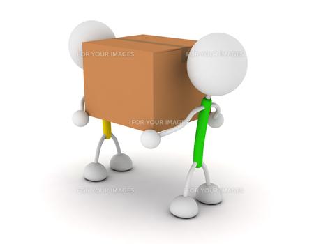 ダンボールを運ぶの写真素材 [FYI00383643]