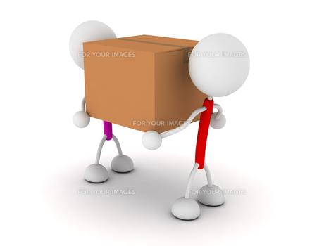 ダンボールを運ぶの写真素材 [FYI00383644]