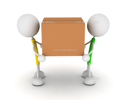 ダンボールを運ぶの写真素材 [FYI00383645]