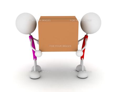 ダンボールを運ぶの写真素材 [FYI00383652]