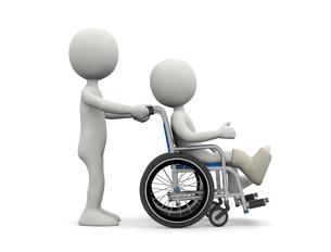 車椅子の写真素材 [FYI00383705]