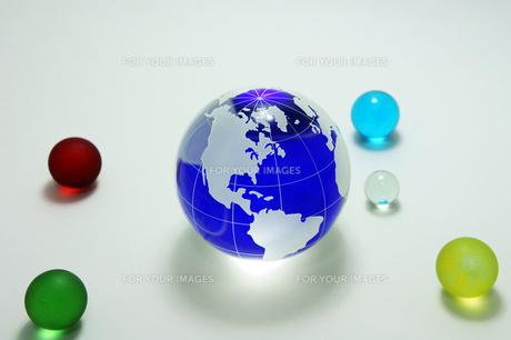 青い地球 ガラス玉の素材 [FYI00384644]