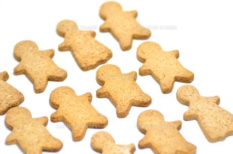 並べたジンジャークッキーの素材 [FYI00385207]