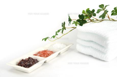 三種のヒマラヤ岩塩 タオル 植物の素材 [FYI00386113]