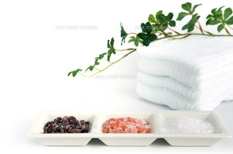 三種のヒマラヤ岩塩 タオル 植物の素材 [FYI00386118]