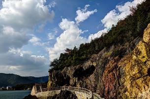 鞆の浦 仙酔島 五色岩の素材 [FYI00386372]