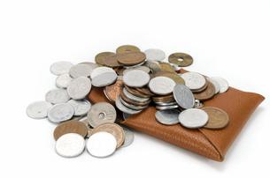 小銭入れと硬貨の素材 [FYI00386764]