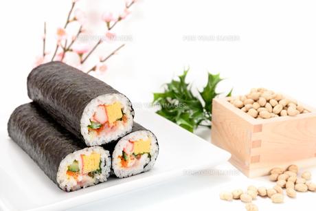 海鮮巻き寿司と大豆の素材 [FYI00386959]