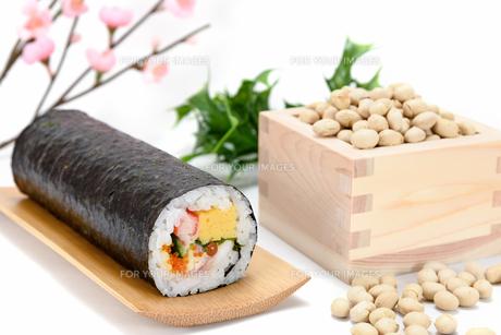 海鮮巻き寿司と大豆の素材 [FYI00386981]