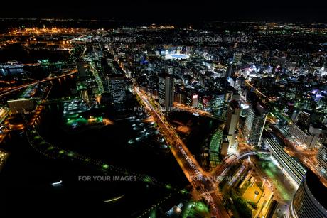 横浜みなとみらいの夜景の素材 [FYI00387052]