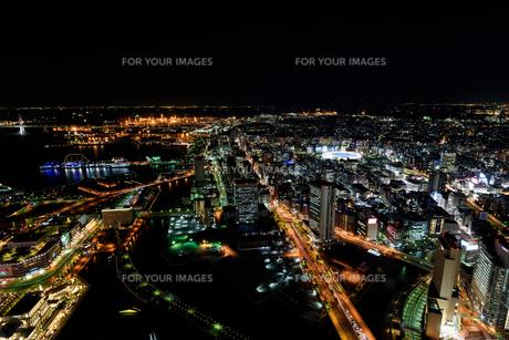 横浜みなとみらいの夜景の素材 [FYI00387053]