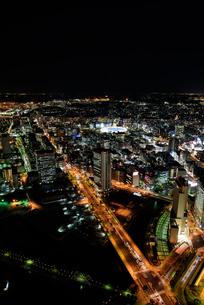 横浜みなとみらいの夜景の素材 [FYI00387054]