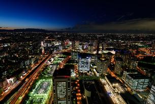 横浜みなとみらいの夜景の素材 [FYI00387060]