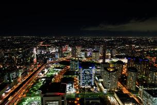 横浜みなとみらいの夜景の素材 [FYI00387065]