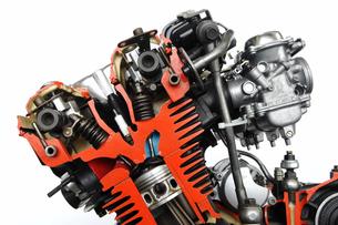 バイクのカットエンジンの写真素材 [FYI00388336]
