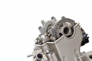 バイクエンジンの整備の写真素材 [FYI00388413]