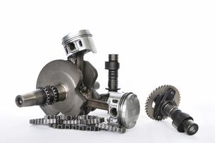 バイクエンジンの部品の写真素材 [FYI00388658]