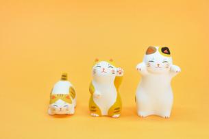 猫の置物の写真素材 [FYI00389211]
