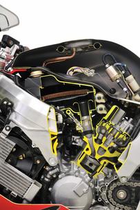 バイクのカットモデルの写真素材 [FYI00389266]