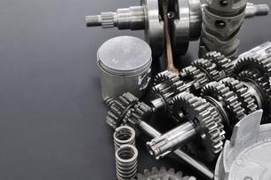 バイクのエンジン部品の写真素材 [FYI00389387]