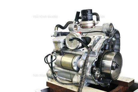 バイクエンジンの整備の写真素材 [FYI00389730]