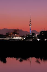 富士山とスカイツリーの写真素材 [FYI00389847]